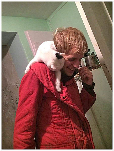 foto van Dieter met kat