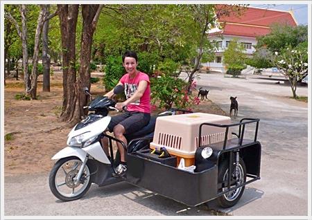 Marlie en haar vorige scooter