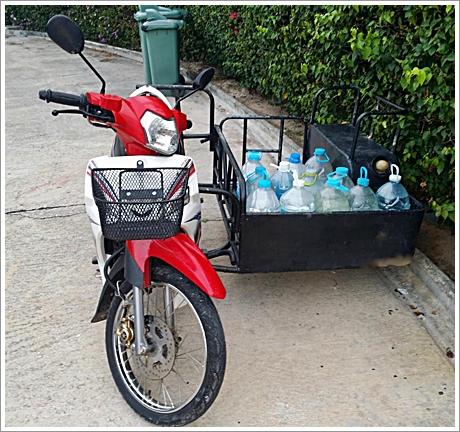 De nieuwe scooter van Marlie