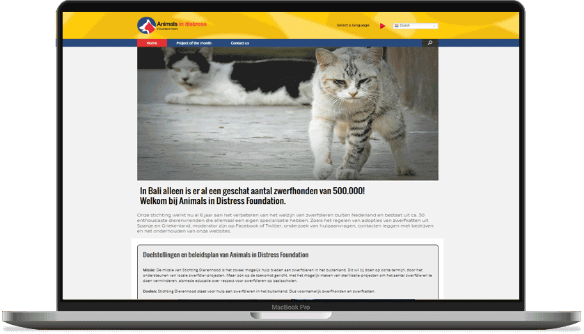 animals in distress website picture